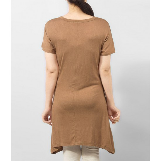 Women's Skin Viscose Tunic With Studs On Front. KTY-TUN26S