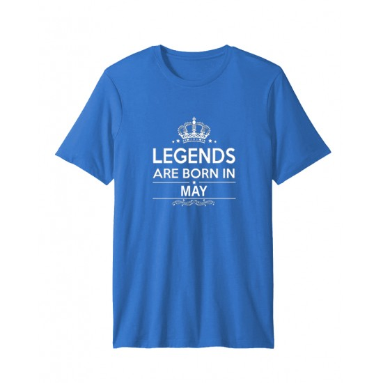 Turquoise Blue Born In May Half Sleeve T-shirt. HLGND-00005