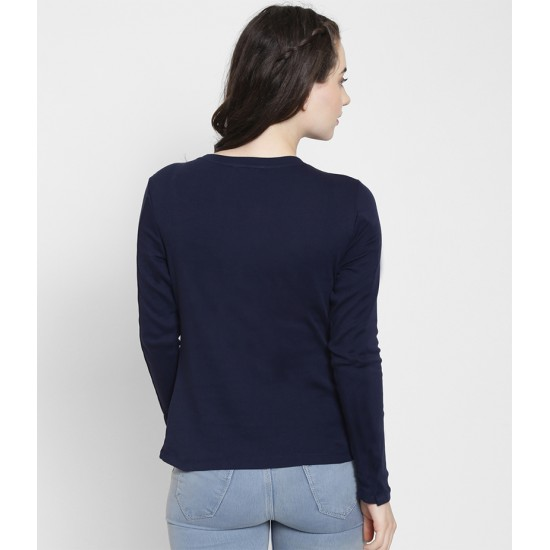 Women's Navy Blue Born In May Long Sleeve T-shirt. WLHLGND-05