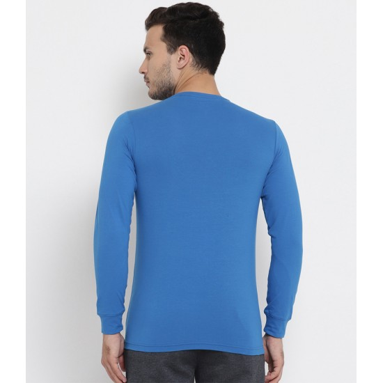 Men's Turquoise Blue Born In May Long Sleeve T-shirt. MLLGND-00005