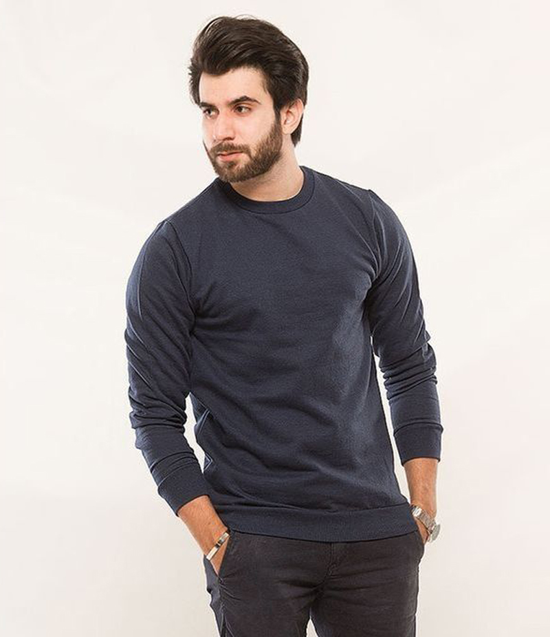 Men's Navy Fleece Sweatshirt. ACT-SW3N