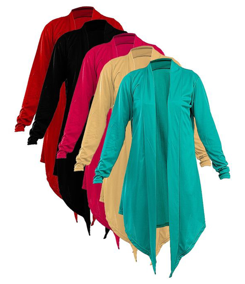 Nina's Style - Women's Pack of 5 Cotton Jersey Shrugs. NS-P5S