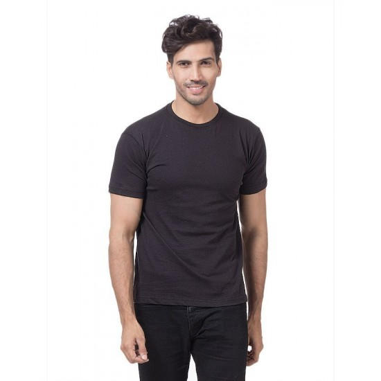 Men's Black Basic T-shirt. SD-343