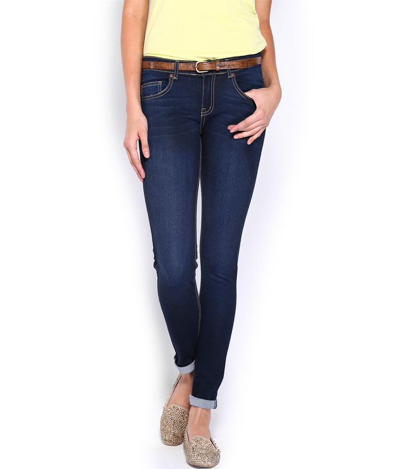 Women's Dark Blue Denim Jeans. SA-J2