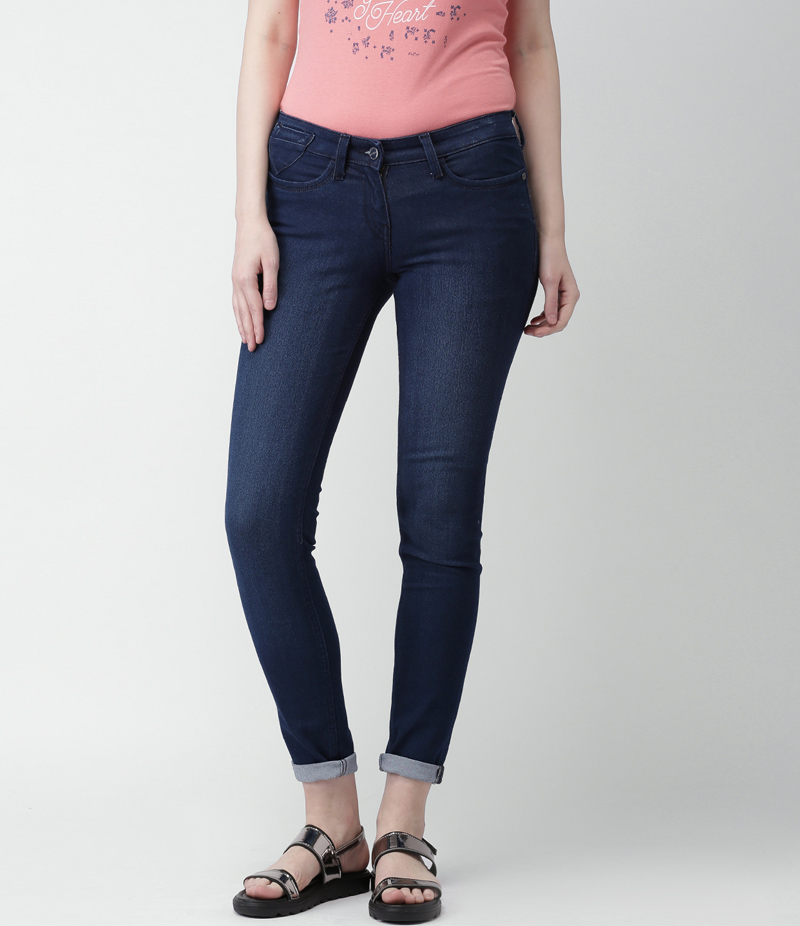 Women's Dark Blue Denim Jeans. SA-J32
