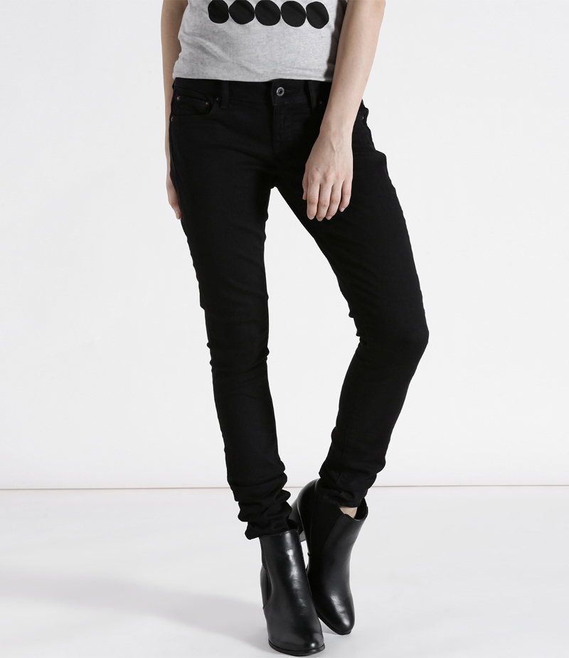 Women's Jet Black Denim Jeans. SA-J36