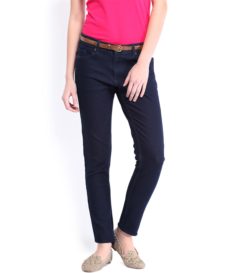 Women's Navy Blue Denim Jeans. SA-J5
