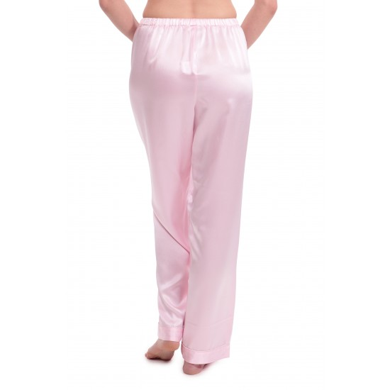 Baby Pink Moon Silk Sleepwear Trousers Pants For Women. SD-681