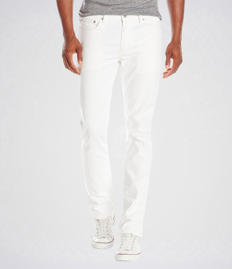 Men's White Slim Fit Jeans. AJ-WT13