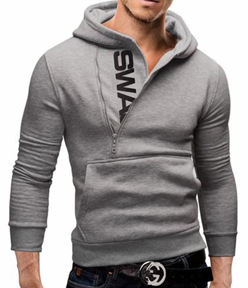 Men's Heather Grey Swag Hoodie. SWG-1G