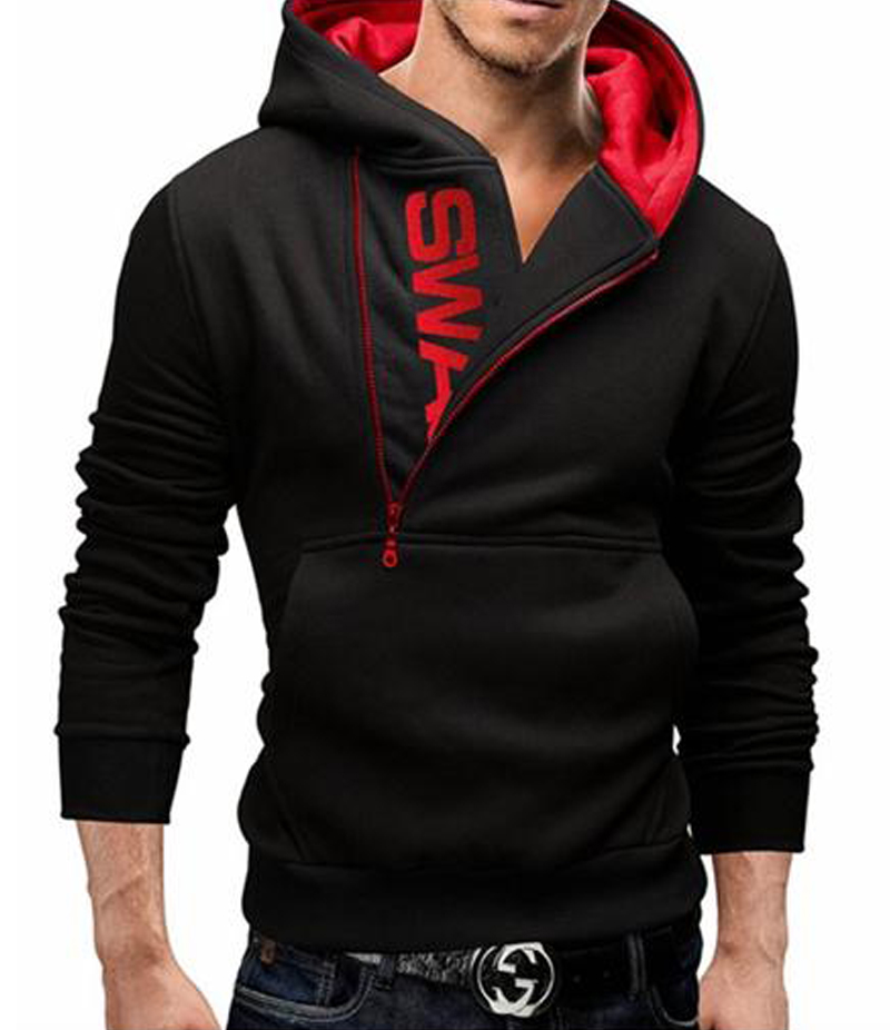 The Ajmery - Men's Black Swag Hoodie. SWG-1B