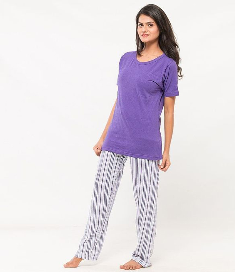 Women's Multi-Colored Soft Cotton Night Suit. UW-163