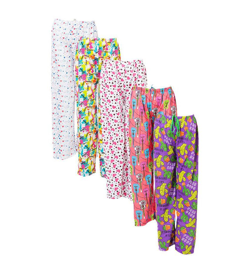 Women's Pack of 5 Soft Cotton Trousers. UW-165