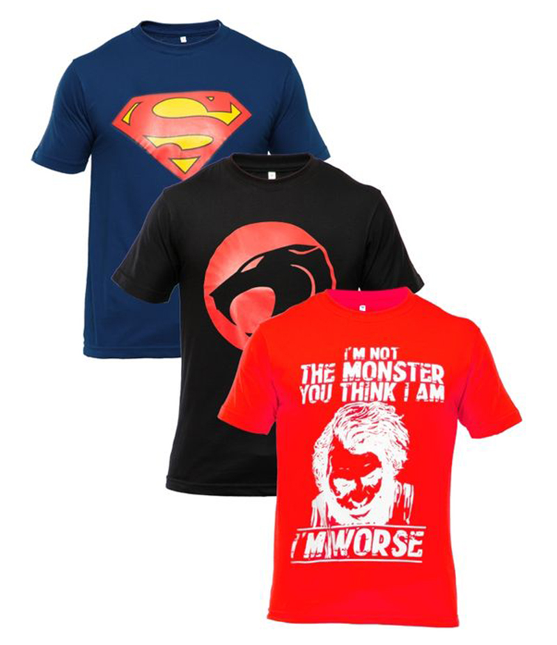 Men's Pack of 3 Printed T-shirts. XH-9271