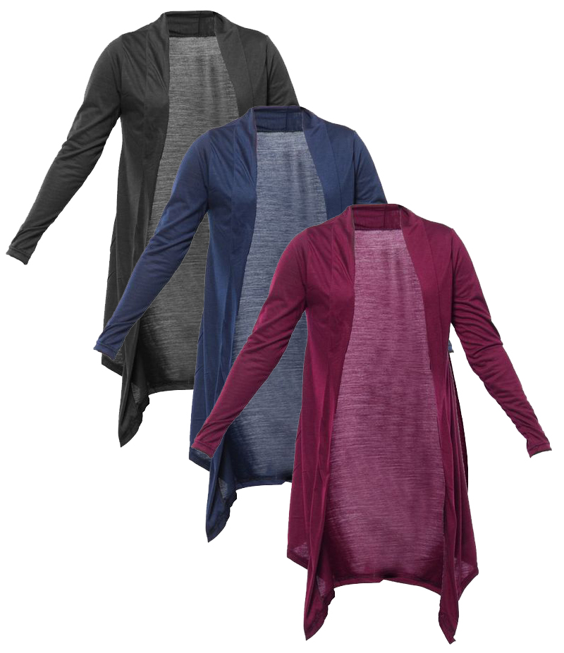 Women's Pack of 3 Cotton Jersey Shrugs. XH-931