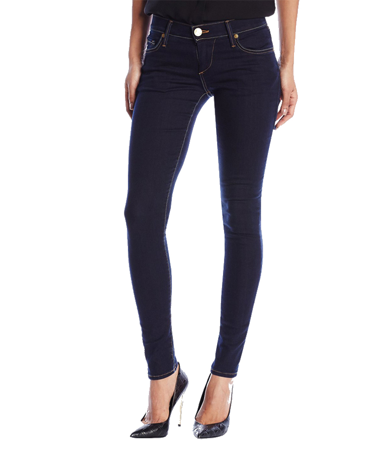 Women's Dark Blue Low Rise Skinny Jeans. AJ-WM05