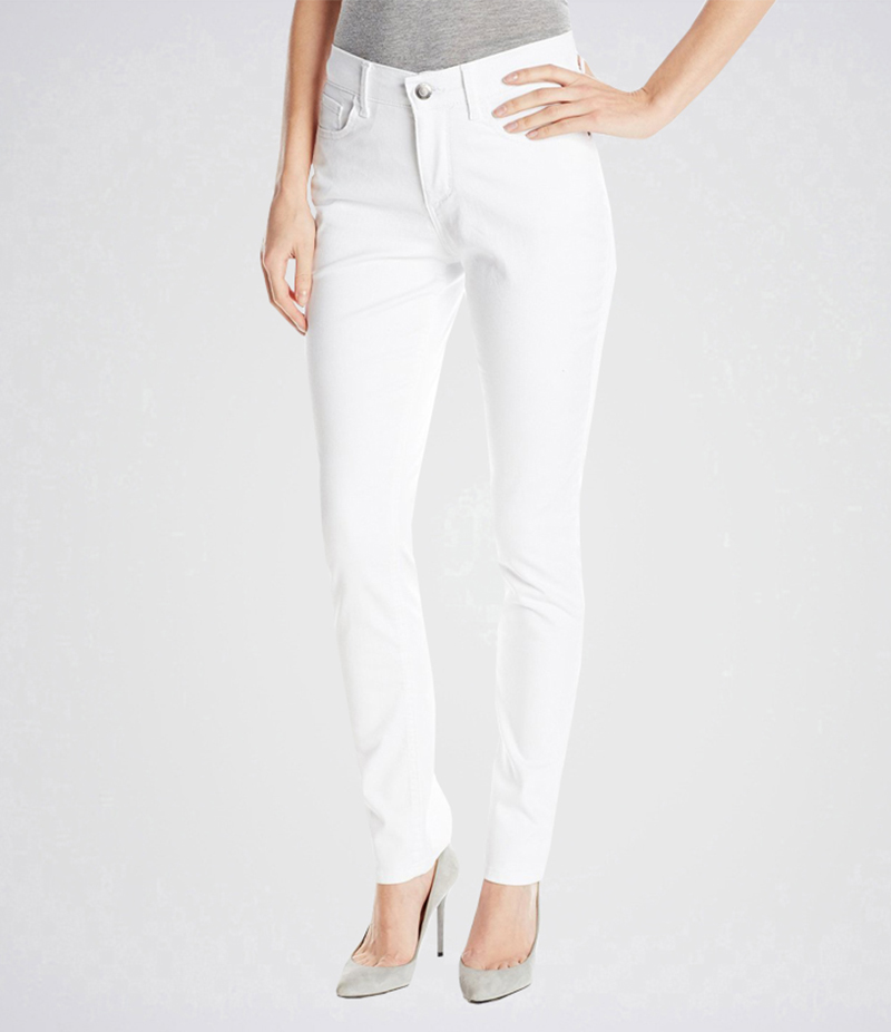 Women's White Easy Fit Skinny Jean. AJ-WM08