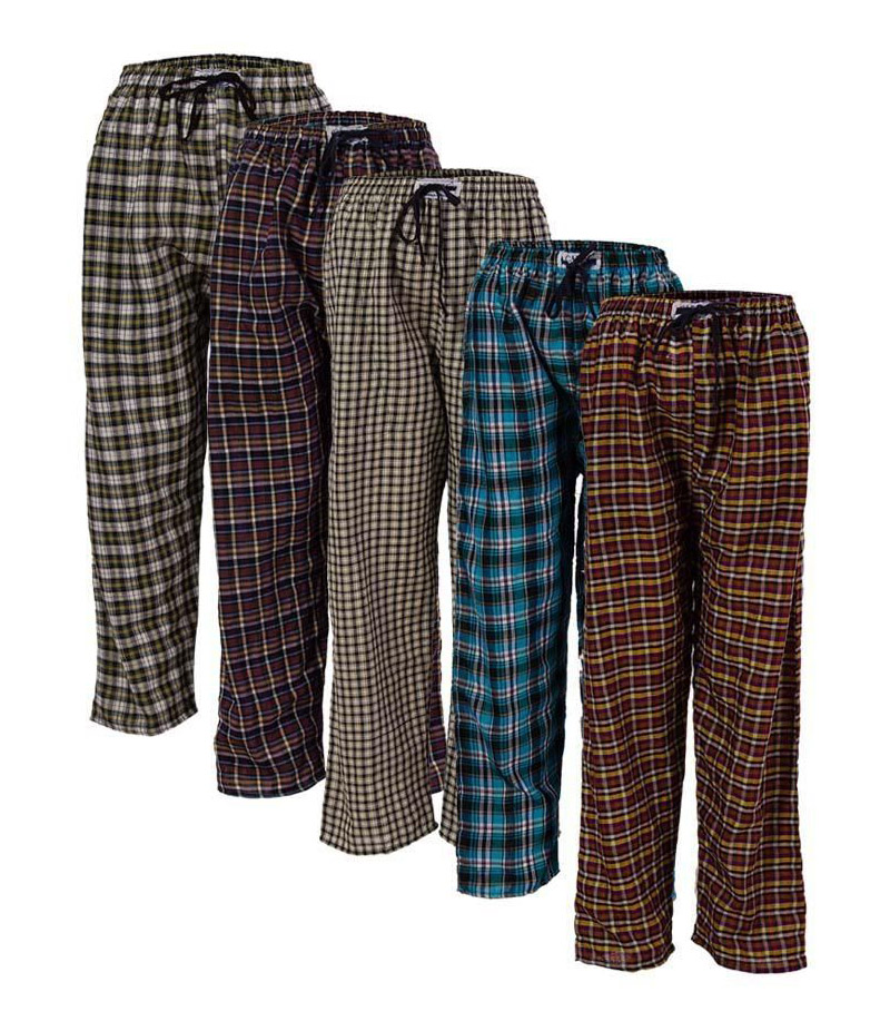 Women's Pack of 5 Cotton Checkered Trousers. FS-1293