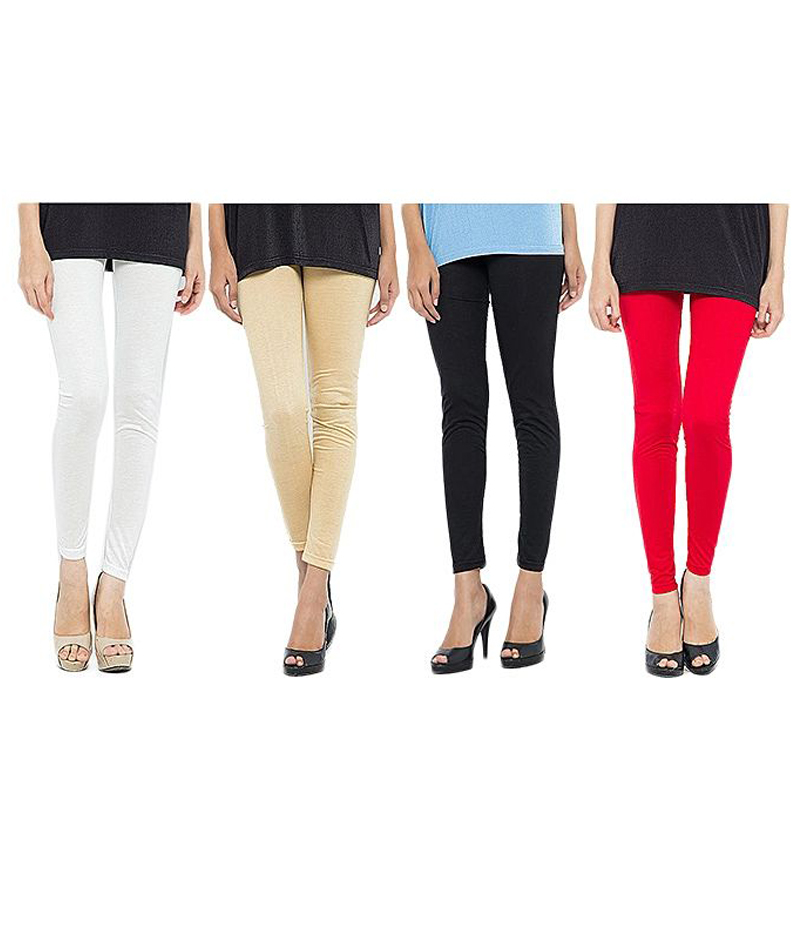 Women's Pack of 4 Cotton Jersey Tights. ZMC-PT142