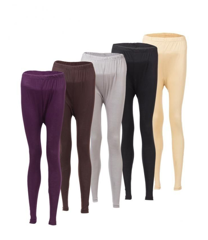 Women's Pack of 5 Cotton Jersey Tights. ZMC-PT143