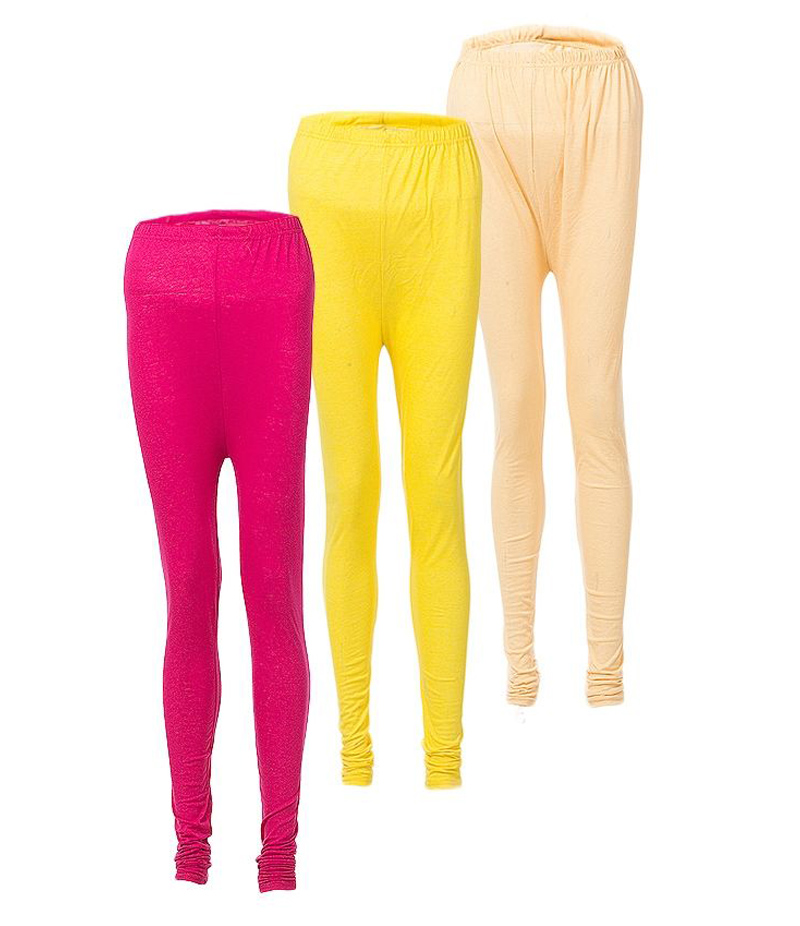 Women's Pack of 3 Cotton Jersey Tights. ZMC-PT144