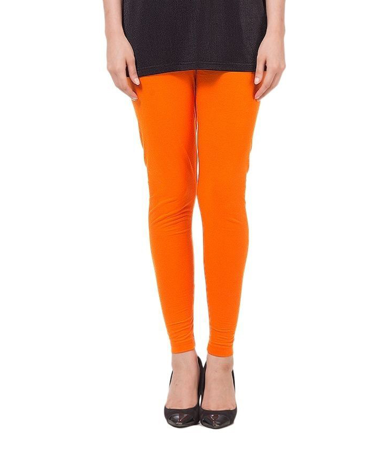 Women's Orange Cotton Jersey Tights. ZMC-137