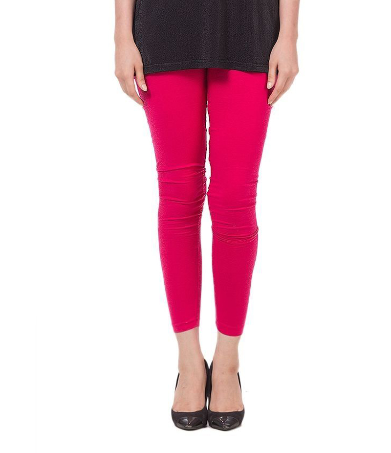 Women's Pink Cotton Jersey Tights. ZMC-140