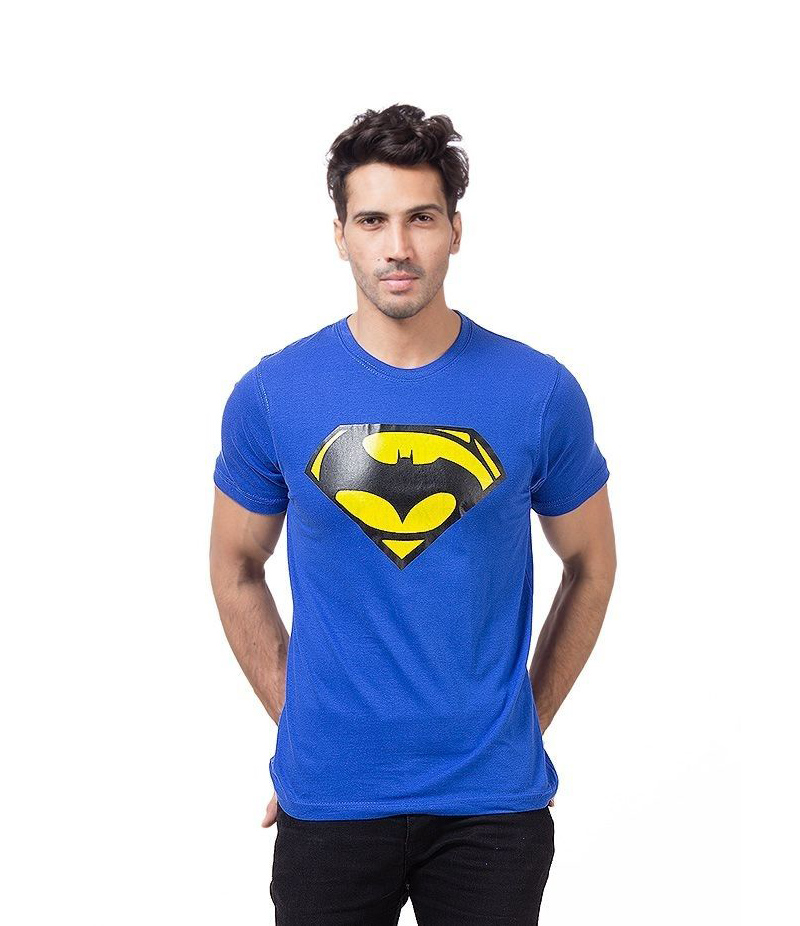 Men's Royal Blue Batman VS Superman Printed T-shirt. ZTE-1691