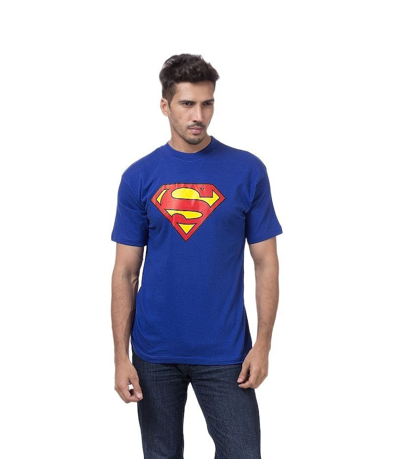 Men's Royal Blue Superman Printed T-shirt. ZTE-1700