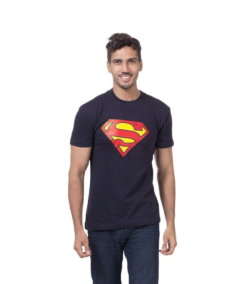 Men's Navy Blue Superman Printed T-shirt. ZTE-1701